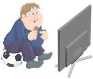 Soccer TV fan Stock Images
