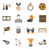 Soccer two color Icons Set Royalty Free Stock Image