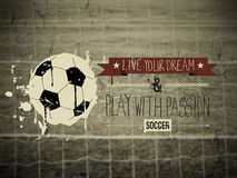 Soccer typography quote Stock Image