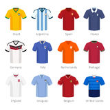 Soccer uniform or football of national teams Stock Photo