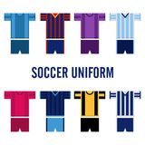 Soccer Uniform Logo Template Stock Image