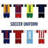 Soccer Uniform Logo Template Royalty Free Stock Photography