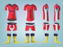 Soccer uniform team sportswear design. Royalty Free Stock Image