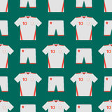 Soccer uniform template seamless pattern football club clothing vector illustration design Royalty Free Stock Photography