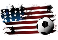 Soccer USA flag Ball Stock Images