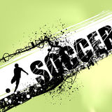 Soccer vector. Grunge style soccer illustration vector Royalty Free Stock Image