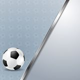 Soccer vector background with metallic stripe Royalty Free Stock Images