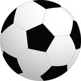Soccer vector ball Stock Image