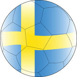 Soccer vector ball sweden Royalty Free Stock Photos
