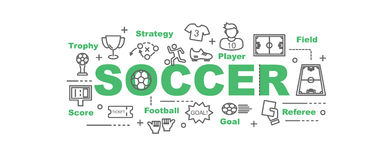 Soccer vector banner Stock Photography