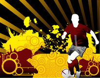 Soccer vector composition Royalty Free Stock Photography
