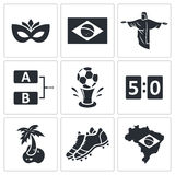 Soccer vector icon collection Stock Images