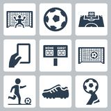 Soccer vector icons Royalty Free Stock Photo