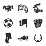 Soccer vector Icons set Stock Images
