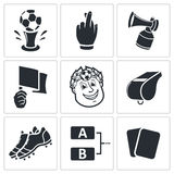 Soccer vector Icons set Royalty Free Stock Photos