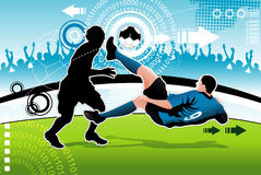 Soccer vector illustration Royalty Free Stock Images