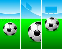 Soccer vertical banners Stock Image
