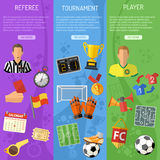 Soccer vertical Banners Stock Photography