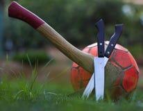 Soccer&violence obraz royalty free