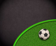 Soccer Wallpaper. Ball on grass Royalty Free Stock Photo