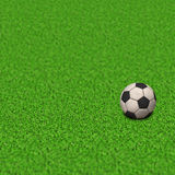 Soccer Wallpaper. Ball on grass Stock Images