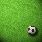 Soccer Wallpaper. Ball on grass Royalty Free Stock Photography