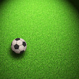 Soccer Wallpaper. Ball on grass Royalty Free Stock Image