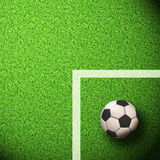 Soccer Wallpaper. Ball on grass Royalty Free Stock Images
