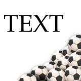 Soccer Wallpaper. Ball on grass Stock Images