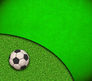 Soccer Wallpaper. Ball on grass Royalty Free Stock Photos