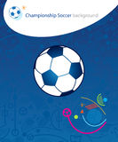 EURO Championship Soccer. Euro Soccer France concept design. Soccer ball on blue background. Championship soccer ball poster abstract background. Soccer Stock Photos