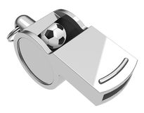 The soccer whistle Royalty Free Stock Photos