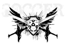 Soccer wings. The symbol of the soccer in the s Royalty Free Stock Images