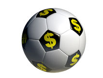 Soccer With Dollar Symbol Royalty Free Stock Photography