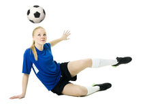 Soccer woman Royalty Free Stock Photography