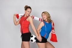 Soccer woman stock photos