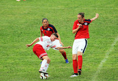 Soccer women. An action of the deaf world cup football match poland vs great britain played at eboli in italy. 22/6/2016 royalty free stock photos