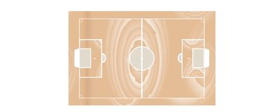 Soccer wooden field - vector. Soccer wooden field isolated on white vector Royalty Free Stock Photos