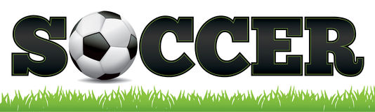 Soccer Word Art Illustration Stock Photography