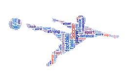Soccer word cloud Stock Photos