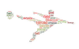 Soccer word cloud Royalty Free Stock Image