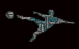 Soccer word cloud Stock Images