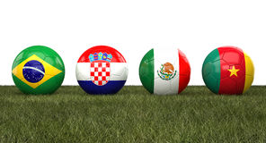 Soccer wordl cup balls Stock Images