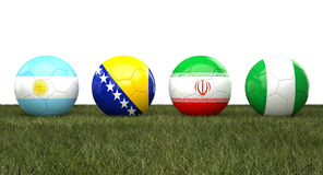 Soccer wordl cup balls Stock Image
