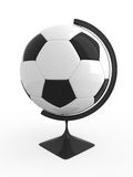 Soccer is world. Soccer ball - terrestrial globe. Isolated Royalty Free Stock Image