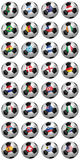 Soccer World Championship 2010. Set of soccer balls isolated over white background royalty free illustration