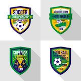 Soccer  world championship  emblem Superior team Royalty Free Stock Photo