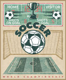 Soccer World Championship Poster Royalty Free Stock Images