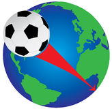 Soccer world cup 2010. In south africa stock illustration
