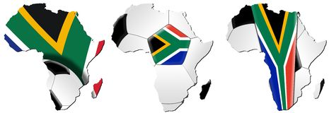 Soccer World Cup 2010 - Maps of Africa. Soccer / Football World Cup 2010 - Map of Africa Royalty Free Stock Image
